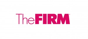 The Firm Logo Pink on White